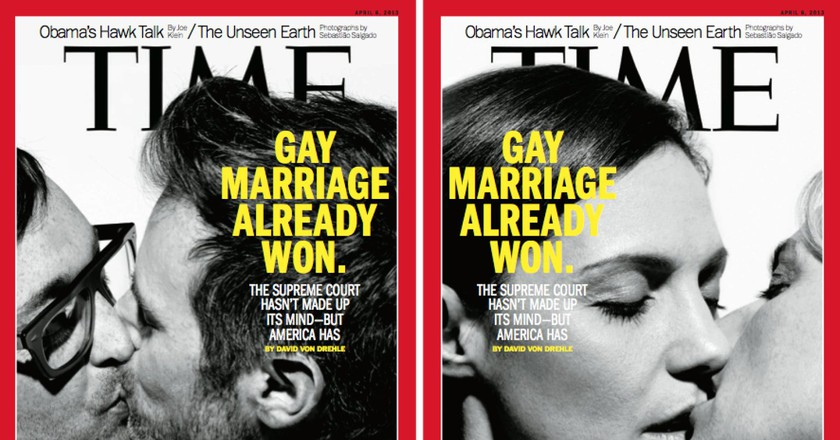 A 2013 Time magazine cover about gay marriage in the US   © Esther Vargas/Flickr
