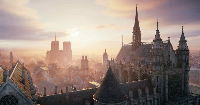 The Notre Dame cathedral in Assassin's Creed Unity   © Xbox