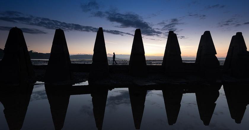 Cramond Causeway Pylons | © George Gastin/WikiCommons
