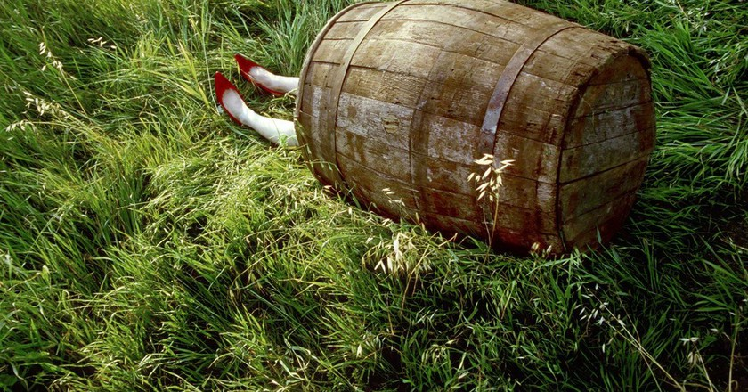 'Dorothy' (Barrel Series), 2003, from High Fashion Crime Scenes, 2003-2016 | Courtesy of the artist