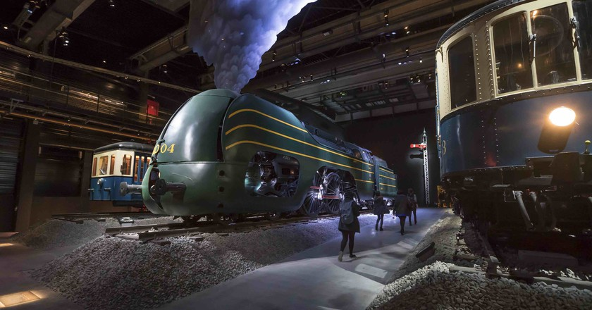 The old Schaerbeek station now is filled with 22 of the most valuable pieces in Belgian train history | © Train World Brussels