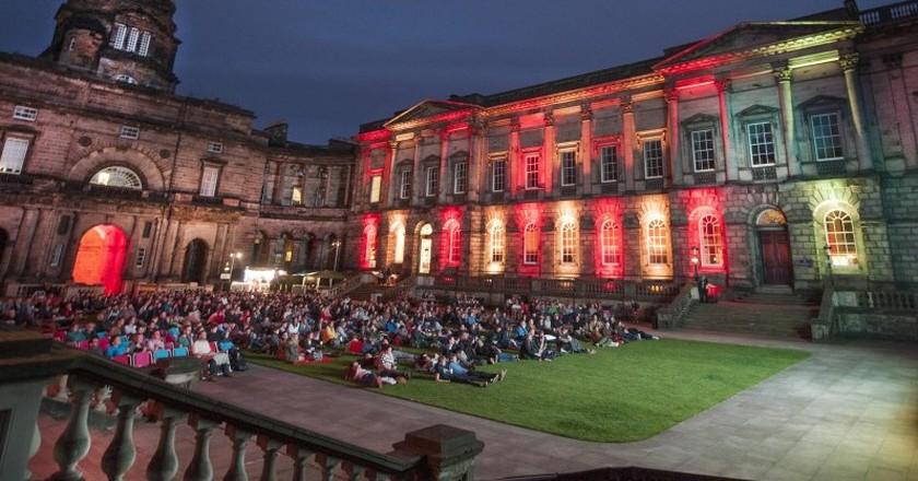 Film in the Old College Quad   Courtesy Of The University Of Edinburgh