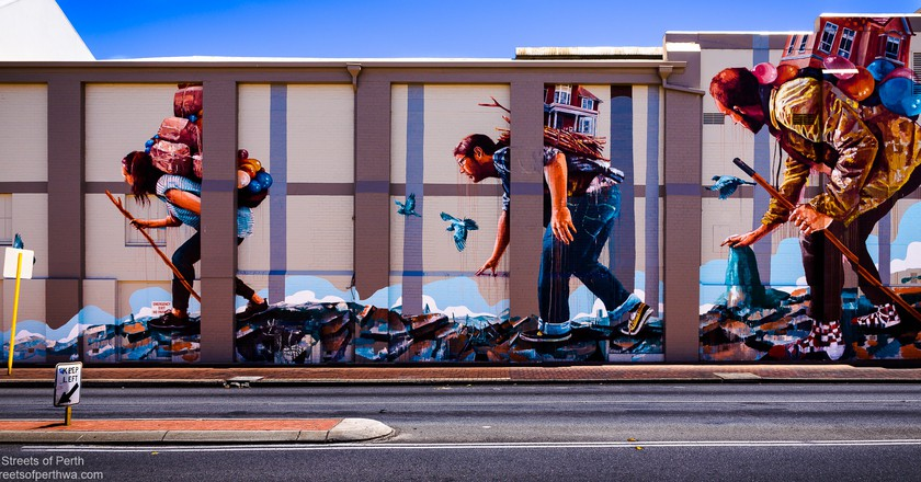 Leederville, Artist Fintan Magee (2014) | Courtesy of Streets of Perth