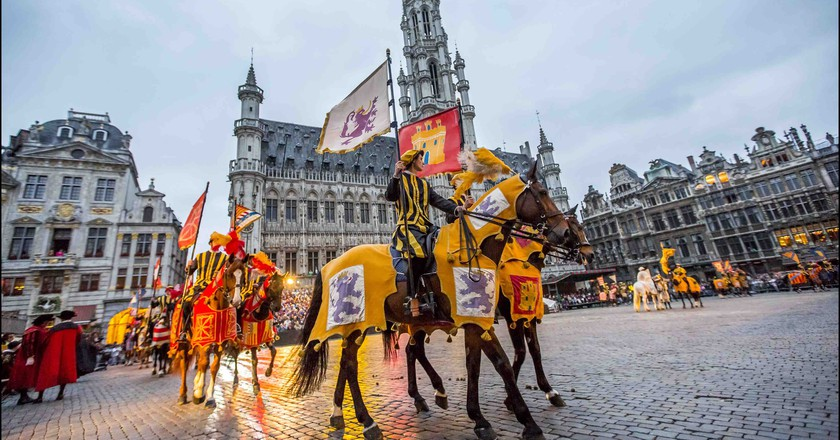 Brussels' Grand Place during the annual folkloric parade 'De Ommegang' | Courtesy of  visitbrussels.be
