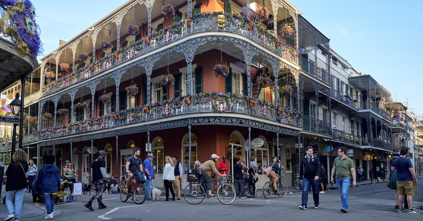 The city of New Orleans is like a real-life movie set.