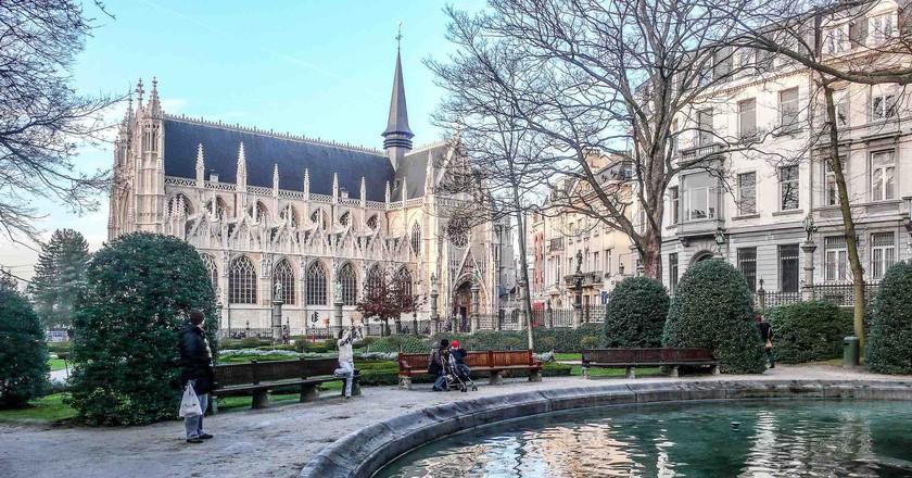 The Petit Sablon garden park boasts a wonderful view of the Sablon's flamboyant Gothic church   ©William Murphy/Flickr