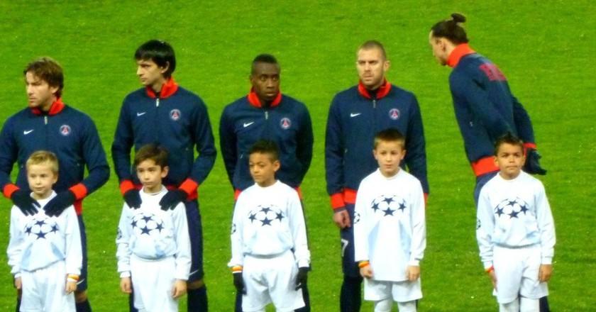 Pre-match Paris Saint-Germain lineup │© Philippe Agnifili