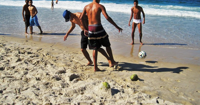 football on Copacabana beach | public domain/Pixabay