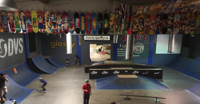 Bird's eye view of just a fraction of Skatelab's sprawling complex| Courtesy of Stephen A. Cooper