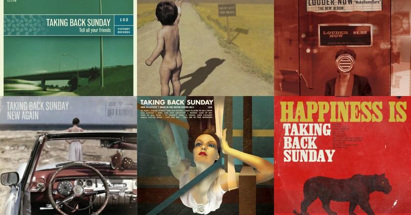 Taking Back Sunday album covers © Victory/Warner Bros./Hopeless