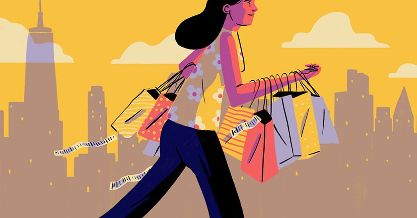 Image result for shopping at macys illustration