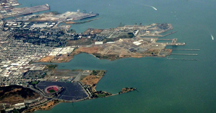 Aerial view of the Shipyard area © Edward Betts/Wikipedia