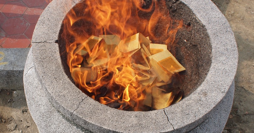 Image result for paper offerings for the dead