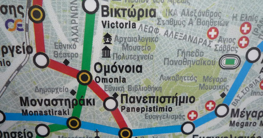 Metro Map of Athens | © Duncan Hull/Flickr