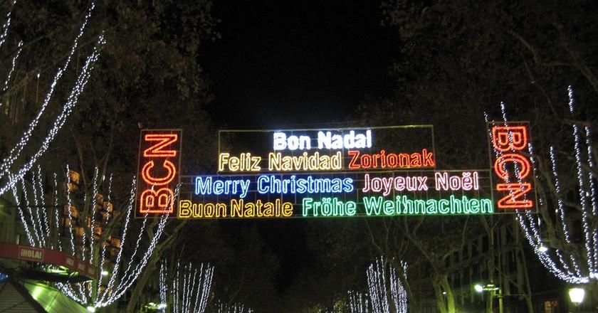 Christmas lights Barcelona    ©Oh-Barcelona.com