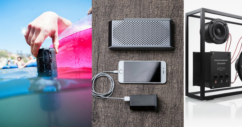 UE Boom, Maqe Soundjump, and People People Transparent Speaker | © Ultimate Ears/Maqe/People People