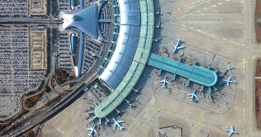Incheon International Airport. Image Courtesy of © 2016 DigitalGlobe