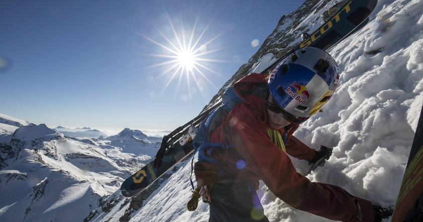 Jérémie Heitz performs at the Matterhorn, Switzerland | © Red Bull Media House