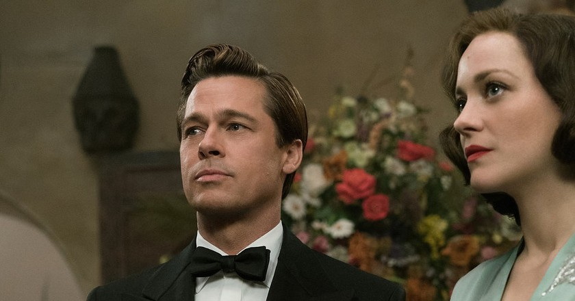 Brad Pitt plays Max Vatan and Marion Cotillard plays Marianne Beausejour in Allied   © Paramount Pictures.