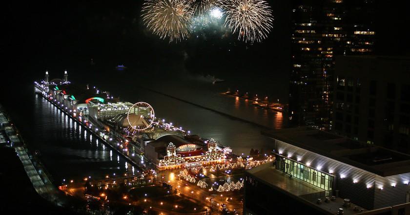 Fireworks over Navy Pier  | © Marit & Toomas Hinnosaar/Flickr