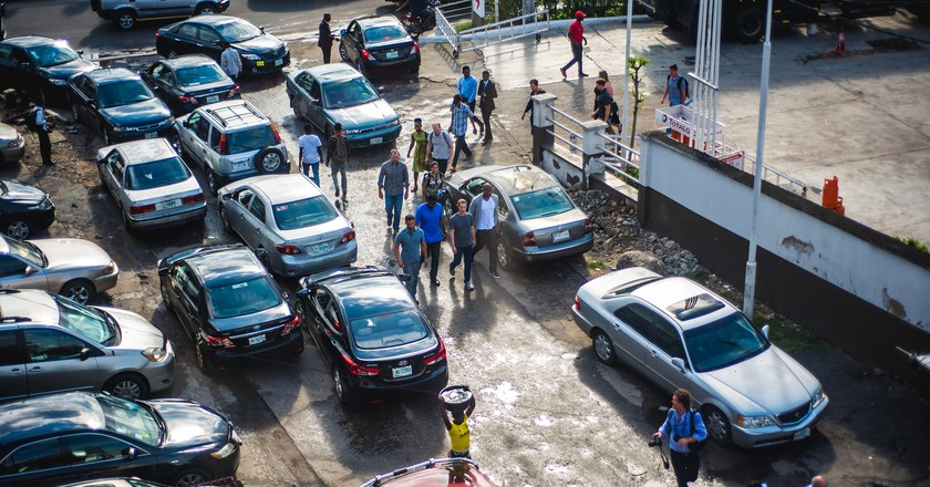 Mark Zuckerberg arriving at the Andela offices in Yaba. | Courtesy Andela.