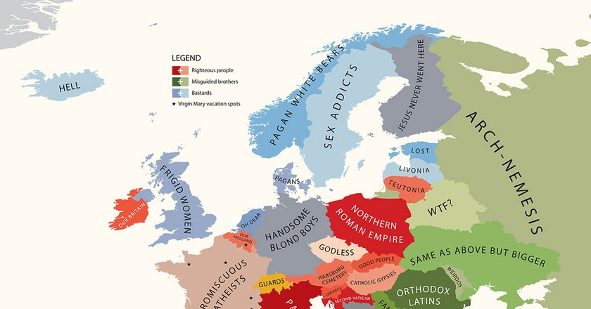 These are the Funniest and Most Offensive Global Stereotypical Maps ...