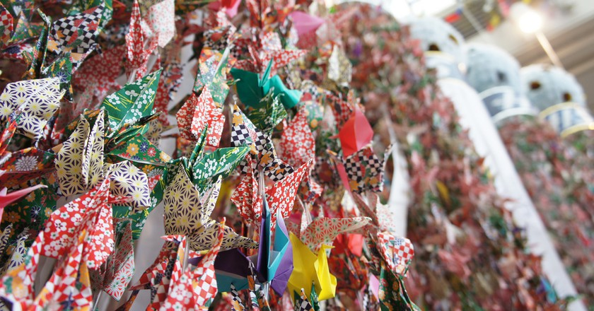 Paper streamers for the Sendai Tanabata | © yisris/Flickr