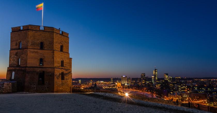 Vilnius Castle Tower at Night  © Mantas Volungevicius /Flickr