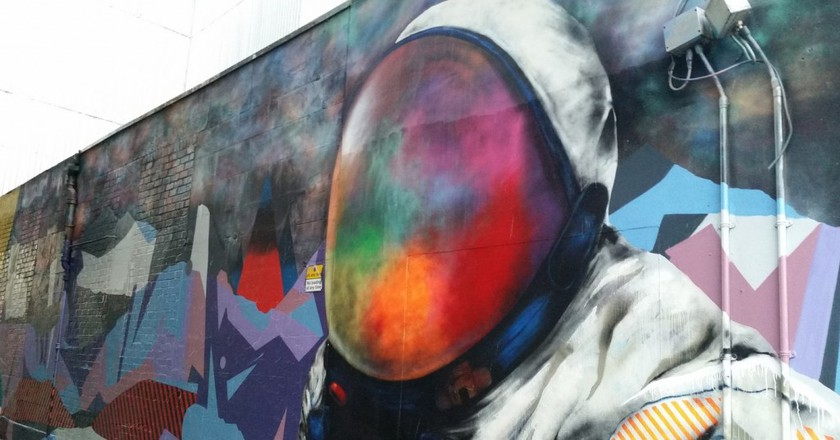 Spaceman Street Mural In Glasgow | © Michel Curi/Flickr