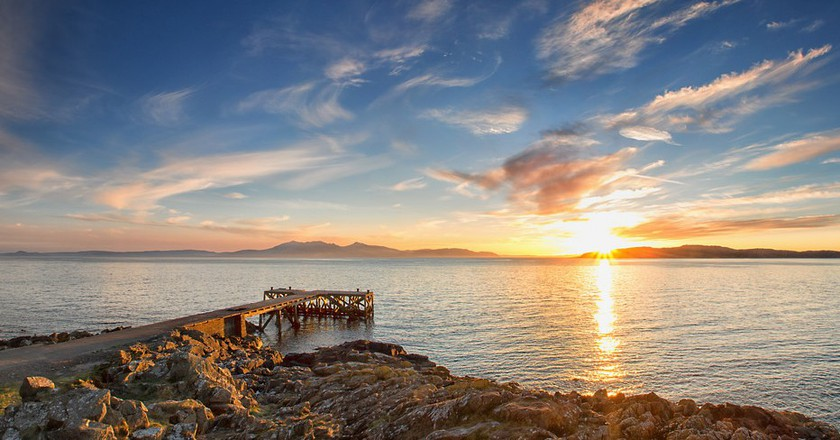 Pier Looking To Isle Of Arran | © john mcsporran/Flickr