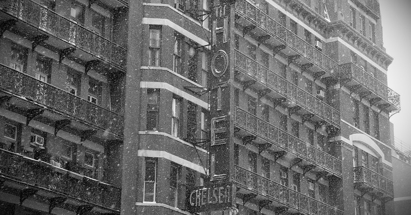 """""""Chelsea Hotel in Snow"""" 