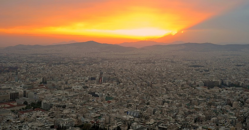 Sunset view from Lycabettus | © paulraven/Flickr