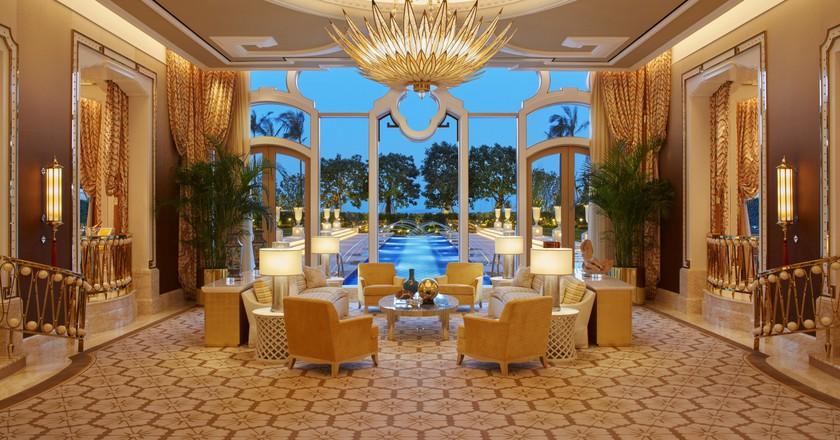 Garden villa living room at Wynn Palace   Courtesy of Wynn Resorts