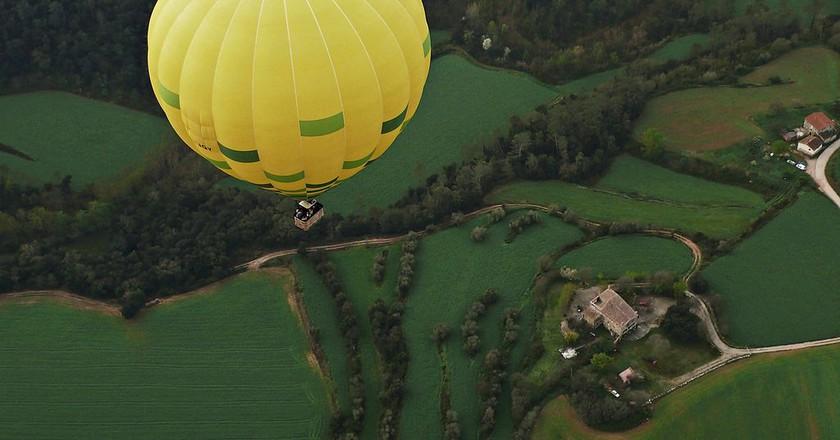 Hot air balloon in La Garrotxa, Girona