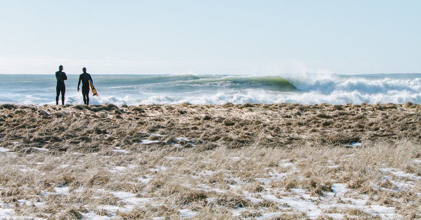 Winter surfing in Maine | © Corey McKenna