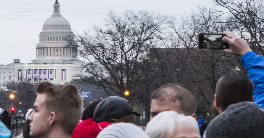 A view of the Capitol from the Inauguration lines | © Amanda Suarez/Culture Trip