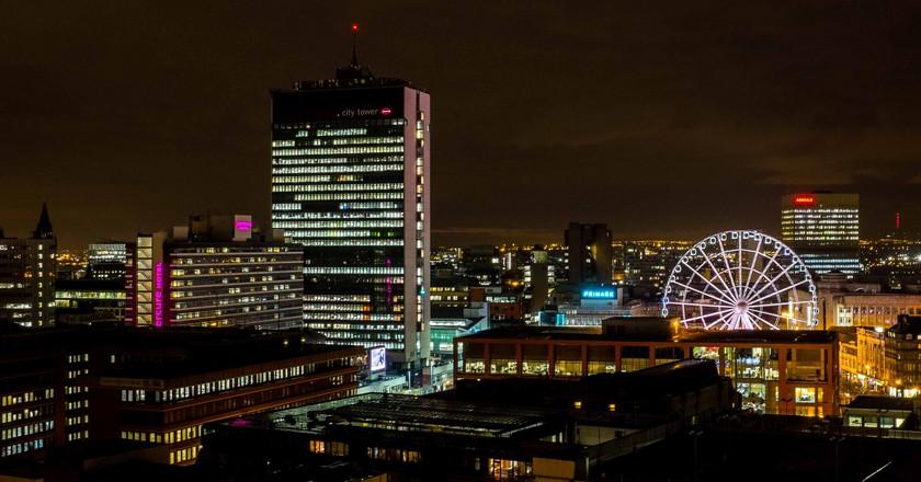 Manchester at night | © Richard Heyes / Flickr
