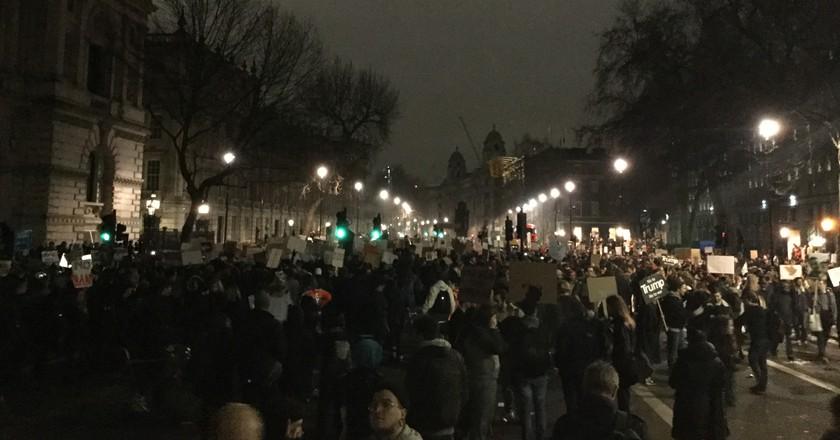 Demonstrations outside Downing Street | © Ruaidhrí Carroll