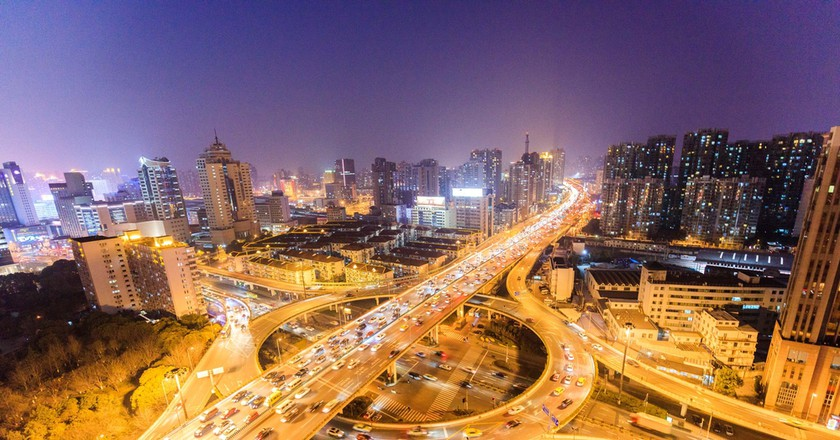 Road congestion has become a serious problem in China's big cities, Shanghai © Humphry/Shutterstock