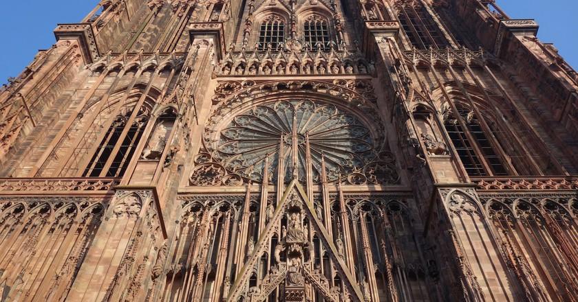 The imposing facade of Strasbourg Cathedral ©Sylvia Edwards Davis
