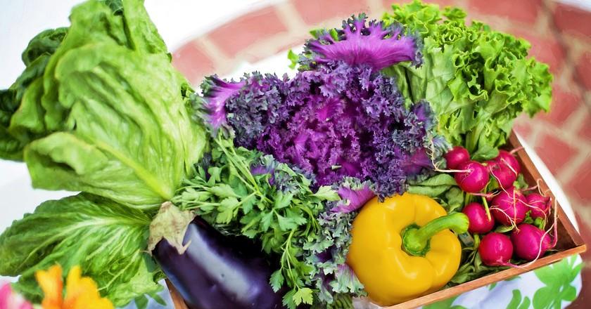 Organic fruit and veg | © Pixabay