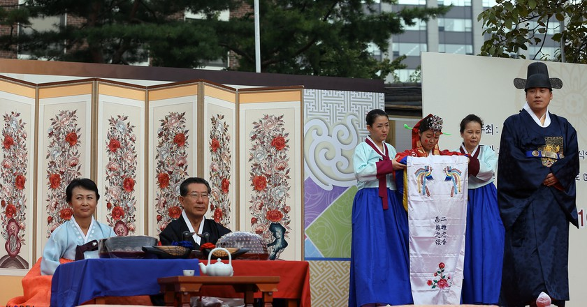 Traditional Korean wedding and pyebaek ceremony | © KoreaNet / Flickr