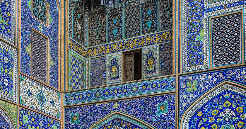 Blue tiles in Meidan Imam | © Ninara / Flickr