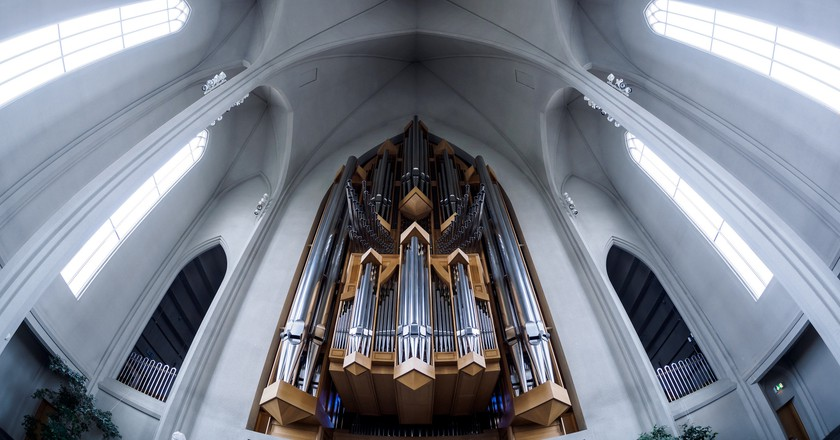 Organ inside Hallgrimskirkja  © skrytebane / Flickr