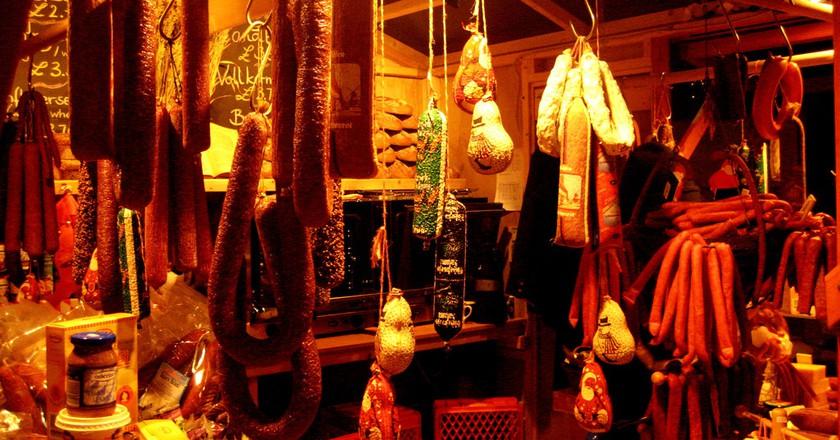 Hanging sausages   © FearfulStills / Flickr