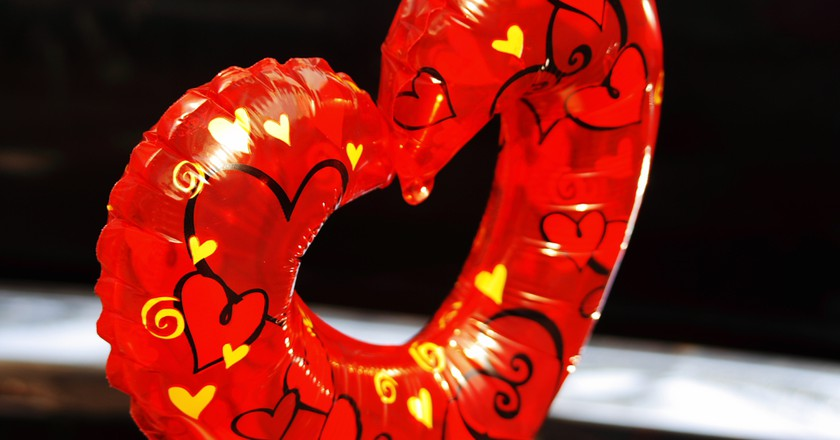 Red and heart shaped, what more could you want for Valentine's Day? | © Esparta Palma/Flickr