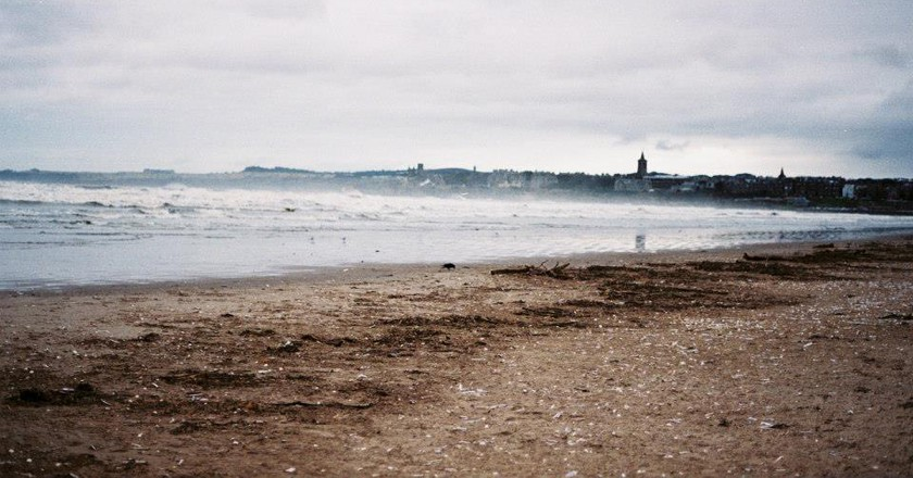 St Andrews beach in winter, 2012 © India Doyle