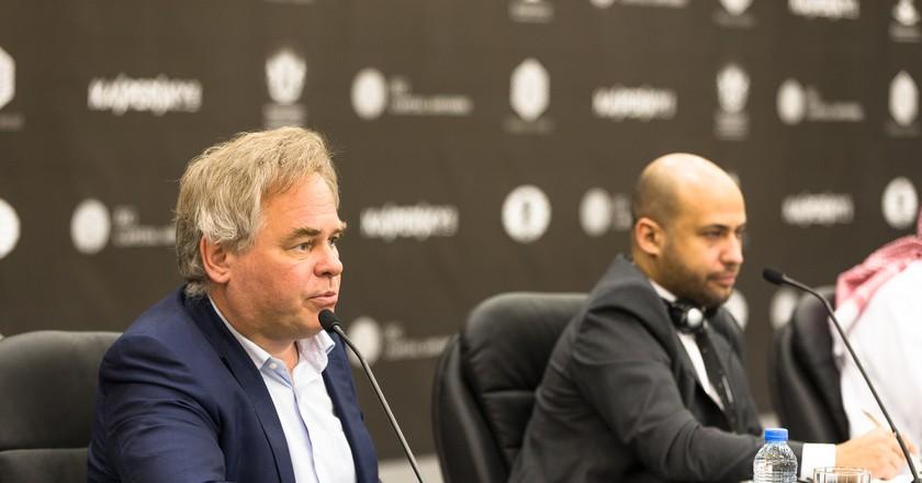 Eugene Kaspersky (left), Chairman and CEO of Kaspersky Lab   © FIDE