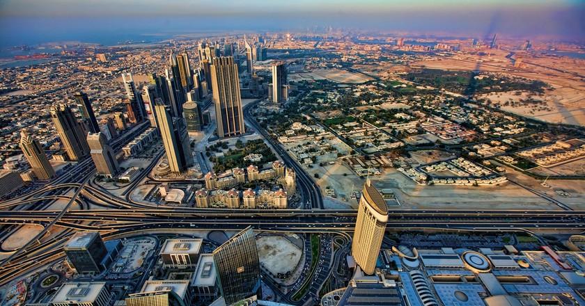 Dubai skyline, soon to include cars. © Michael Theis/Flickr