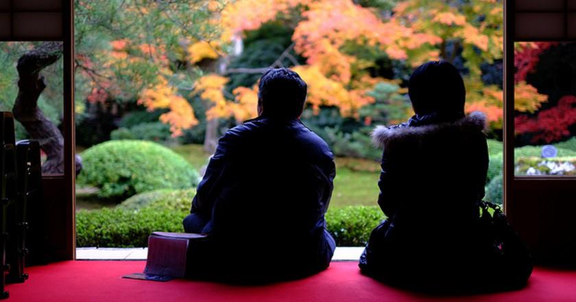 Autumn Garden in Kyoto| ©  mrhayata  Flickr